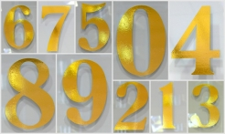 2 Gold House Numbers No Shadow