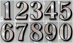 3 Silver House Numbers Drop Shadow
