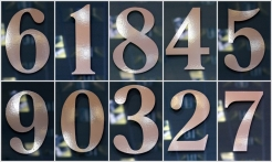 4 Silver House Numbers No Shadow