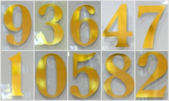 4 Gold House Numbers No Shadow