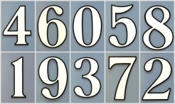 4 White House Numbers Outline Shadow