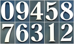 4 White House Numbers No Shadow