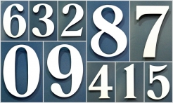5 White House Numbers No Shadow