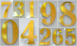 5 Gold House Numbers No Shadow