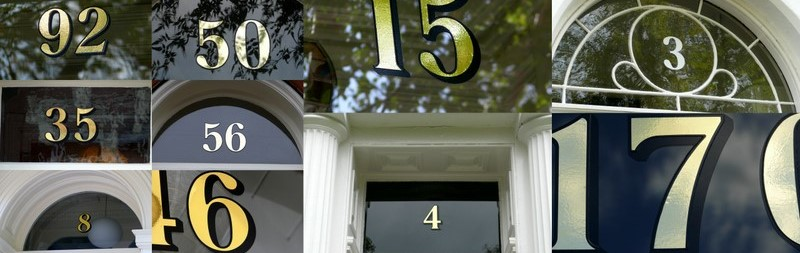 Gold, Silver and White House Numbers Installation Guide