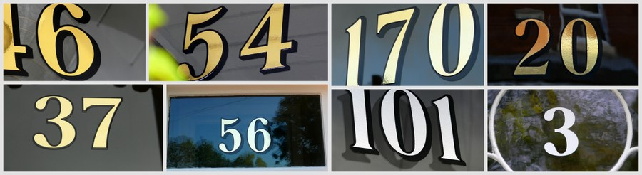 House Door Numbers